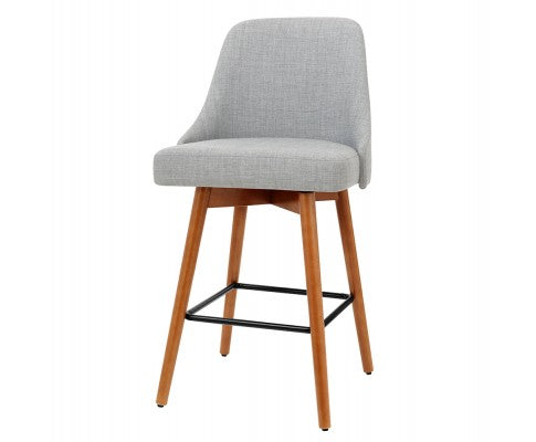 Moore Bar Stools - Grey & Timber - Set Of Two