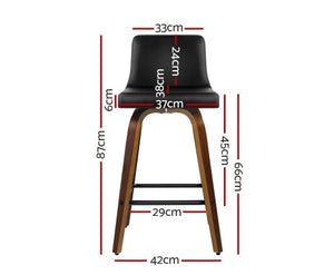 Baker Bar Stool - Black & Timber - Set Of Two [Currently OUT of Stock]
