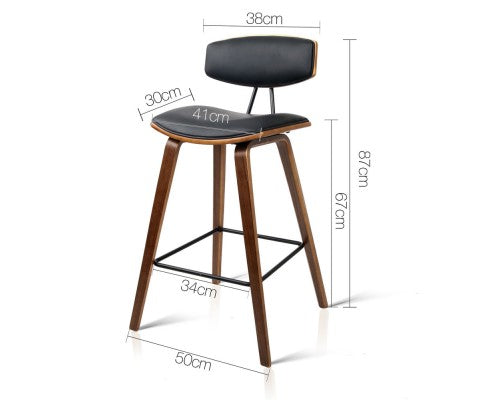 Scott Bar Stools - Black & Timber - Set Of Two