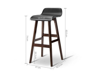 Trudy Bar Stools - Black & Timber - Set Of Two