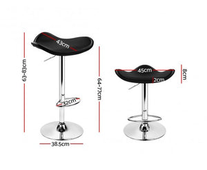 Alexander Bar Stools - Black & Chrome - Set Of Two [Currently OUT of Stock]