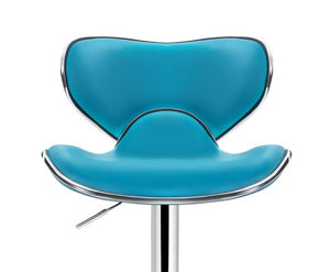 Clark Bar Stools - Teal & Chrome - Set Of Two