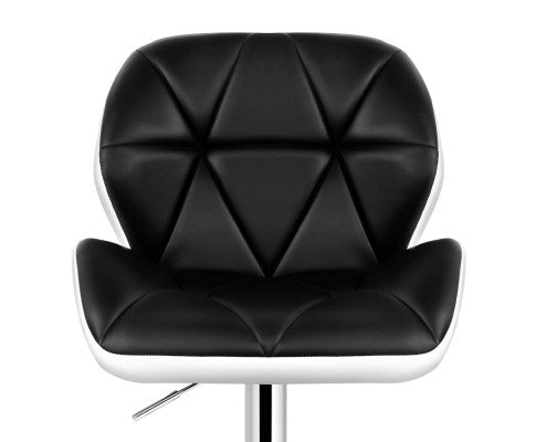 Phillips Bar Stools - Black on White & Chrome - Set Of Two [Currently OUT of Stock]