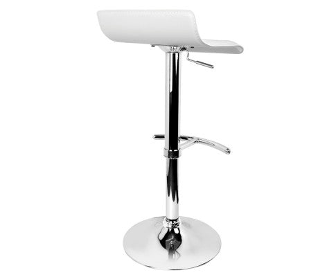 Morrison Bar Stools - White & Chrome - Set Of Two