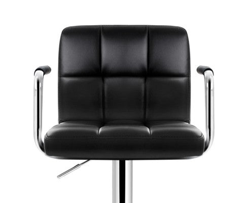 Peut Bar Stool - Padded Black & Chrome - Set Of Two