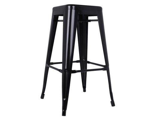 Foster Bar Stools - Black Metal - Set Of Two