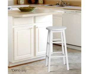 Jack Bar Stools - White Timber - Set Of Two [Currently OUT of Stock]