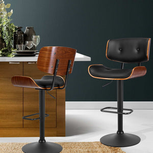 McGrane Bar Stool - Black, Timber & Black Powder Coat[Currently OUT of Stock]