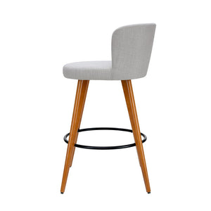 Adele Barstool (Set of Two) Timber & Lt. Grey