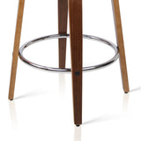 David Bar Stools - 'Linen' Charcoal & Timber - Set Of Two [Currently OUT of Stock]