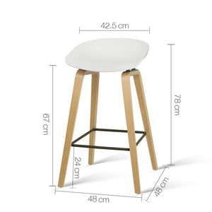 Davis Bar Stools - White & Timber - Set Of Two [Currently OUT of Stock]