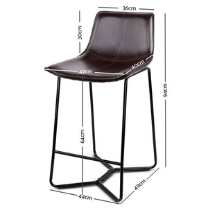 Simmons Bar Stools - Metal Black - Set Of Two