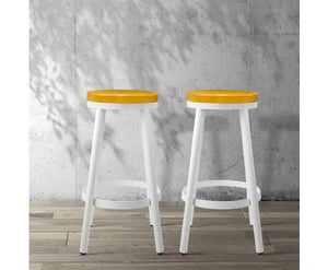 Henry Stackable Bar Stools - White - Set Of Two [Currently OUT of Stock]