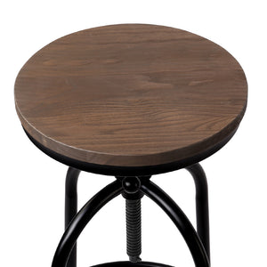 Allan Bar Stool - Black & Timber (Industrial/Rustic)