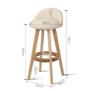 Jackson Bar Stools - Beige - Set Of Two