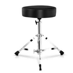 Colin Drum Stool - Padded - Black / Chrome... & Cool!