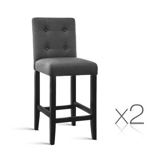 Pierre French Provincial Dining Chairs (Set of Two) Charcoal