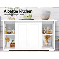 Britz Buffet Sideboard Cabinet / Hallway Table  - White
