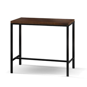 Kim Bar Table - Black and Dark Timber Topped