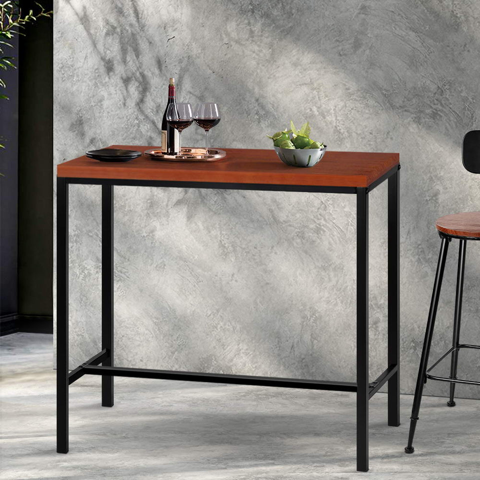 Kim Bar Table - Black and Timber Topped