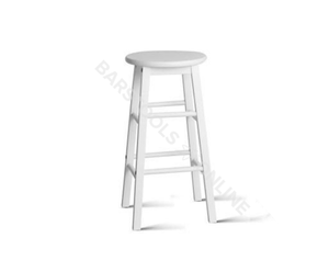 Bailey Bar Stools - White - Set Of Two