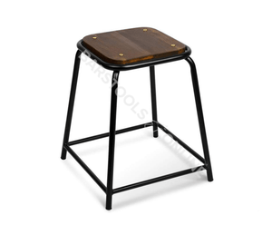 Bella Bar Stools - Black & Timber - Set of 4