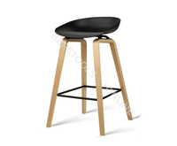 Elvis Bar Stools - Black & Timber - Set Of Two [Currently OUT of Stock]