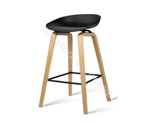 Elvis Bar Stools - Black & Timber - Set Of Two