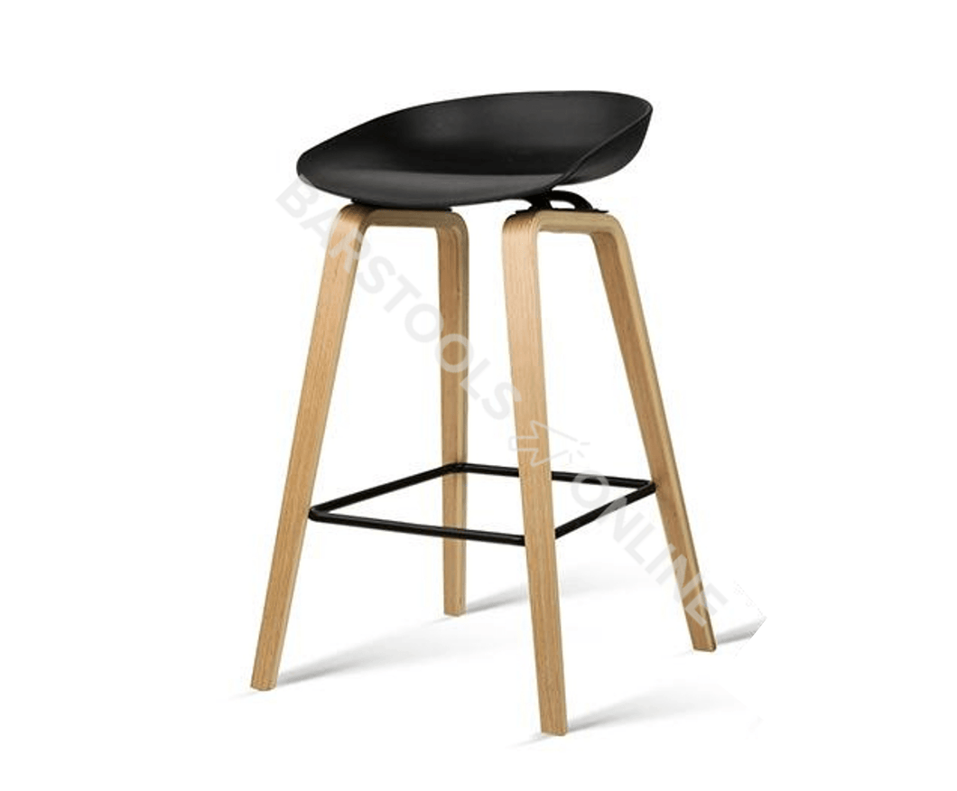 Davis Bar Stools - Black - Set Of Two