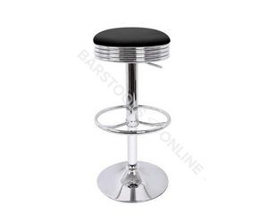 Diaz Bar Stools - Black & Chrome (Set Of Two) [LOW Stock ONLY 2]
