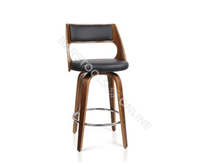 David Bar Stools - Black & Timber - Set Of Two