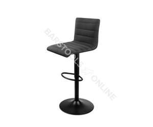 King Bar Stools - Padded Black & Powder Coated - Set Of Two