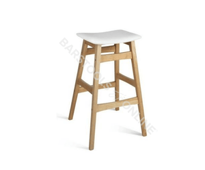 Powell Bar Stools - White - Set Of Two