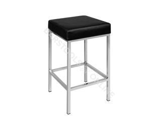 Reed Bar Stools x 2 (Black / Chrome)