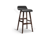 Trudy Bar Stools - Black & Timber - Set Of Two [Currently OUT of Stock]