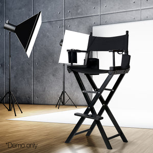 Gillian Tall Director Chair / Stool - Black