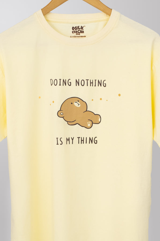 Doing Nothing - Yellow T-Shirt