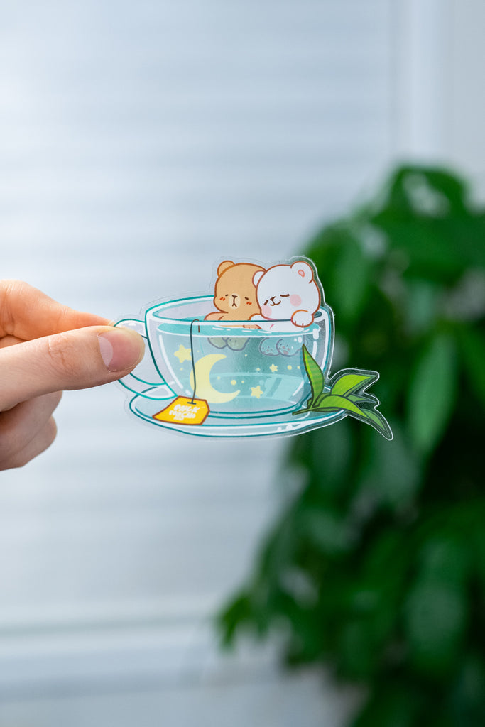 Transparent Vinyl Stickers: Sky Tea
