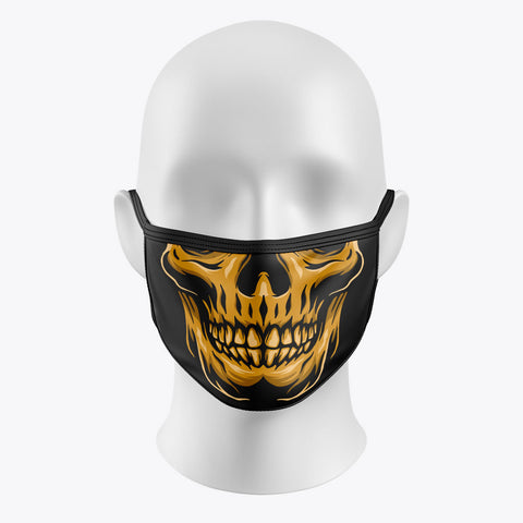 Skull Orange - Cover Mask