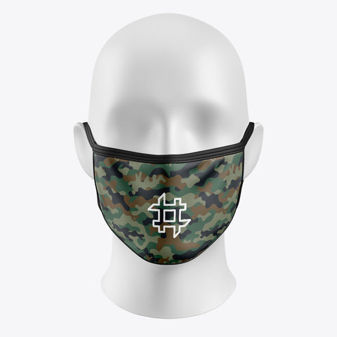 Green Camouflage-Cover Mask