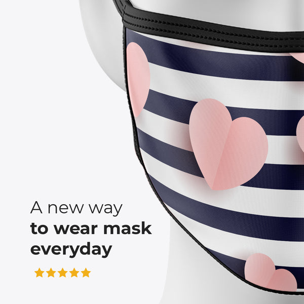 Cuore Righe - Cover Mask