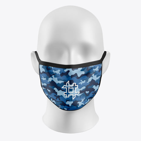 Blue Camouflage-Cover Mask