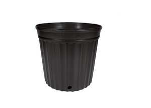"These competitively priced standard black pots are the best of their class. These resin pots come with ample drainage and are more resistant to cracking in frigid weather than other brands. Made with 100% recycled, indestructible polyethylene material inside.  Outside Diameter: 11 7/8"" (30.16 cm) Height: 11"" (27.94 cm) Max Dry Volume: 900 cu.in. Max Liquid Volume: 3.9 gal / 14.76 L"