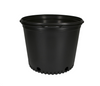 "These competitively priced standard black pots are the best of their class. These resin pots come with ample drainage and are more resistant to cracking in frigid weather than other brands. Made with 100% recycled, indestructible polyethylene material inside.  Outside Diameter: 14"" (35.56 cm) Height: 10 3/8"" (26.35 cm) Max Dry Volume: 1078 cu.in. Max Liquid Volume: 4.67 gal / 17.69 L"