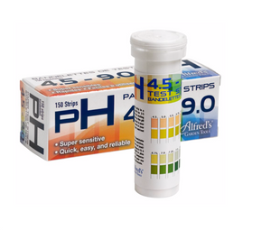 Alfred's pH Test Strips are quick, easy, and reliable!  Don't take any chances, no other nutrient solution characteristic is more important for healthy plants. Without the correct acidity/alkalinity, the ability of your plants roots to uptake critical nutrients is severely limited.  Simply dip the testing zone of the litmus strip in a sample of water or nutrient solution, hold for 3-5 seconds, and you're done. Now remove the testing strip from the solution, and match its' color to the pH Range Color Chart.