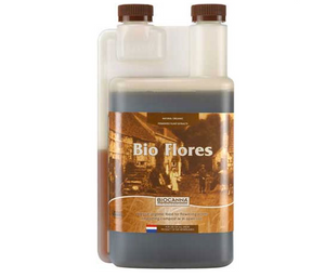 Bio Flores. 2-2-5. Complete plant based nutrient for fast growing plants during the flowering stage. Use Bio Flores in potting mixes or open soil during the flowering stage.