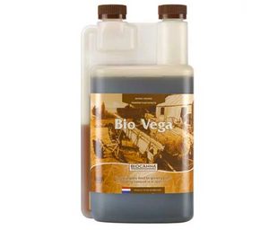 Bio Vega is a one-part organic fertilizer for use during the vegetative stage. Developed for growing in soil, it is rich in highly absorbable betaine nitrogen that is released according to needs of your plants. The bioactive substances in Bio Vega stimulate root development and the formation of strong growth shoots, preparing your plants to optimally start their blooming period. Bio Vega fertilizer is vegetable based and guaranteed 100% organic.
