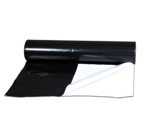 The Benefits of the ThermoFlo Black&White are that it has a thick 6mm poly sheeting, reflects 90% of light back to crops on the white side, the black side absorbs light and can be used to partition areas and waterproof.
