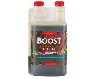 Canna Boost Accelerator. Bloom enhancer for increased productivity and flavours. CANNABOOST is made of naturally fermented plant extracts.
