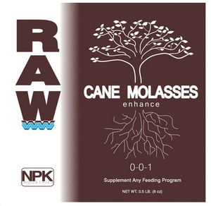 Raw Cane Molasses. Raw Cane Molasses provides a quick boost of energy to plants and beneficial microbes to promote plant growth.